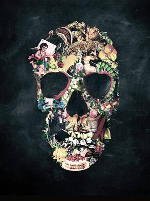Ali Digital Art - Vintage Skull by Ali Gulec