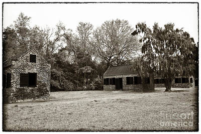 Old School Houses Photograph - Vintage Slave Quarters by John Rizzuto