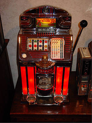 Digital Art - Vintage Slot Machine 25 Cents by Marvin Blaine