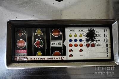 Vintage Slot Machine Art Print by JW Hanley