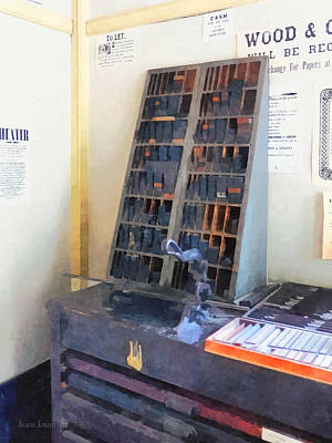 Photograph - Vintage Slug Cutter In Print Shop by Susan Savad