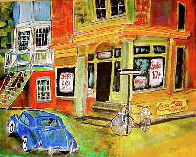 Litvack Painting - Vintage Snack Bar by Michael Litvack