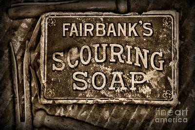 Day Care Art Photograph - Vintage Soap In Sepia by Paul Ward