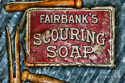 Vintage Soap Art Print by Paul Ward