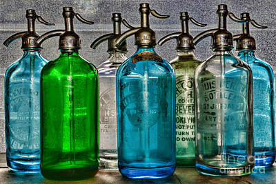 Three Stooges Photograph - Vintage Soda Bottles by Paul Ward