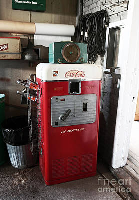 Vintage Soda Machine Art Print by John Rizzuto