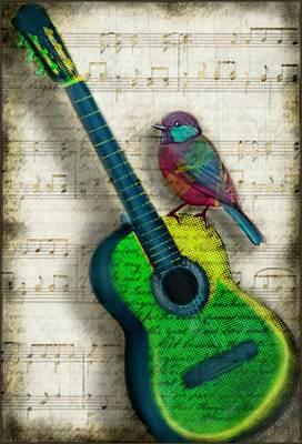 Vintage Song Bird Original by Ginger Guillot