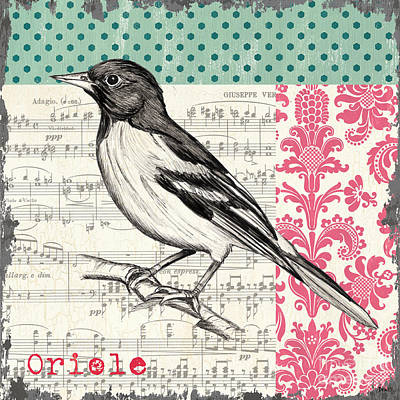 Notes Painting - Vintage Songbird 2 by Debbie DeWitt