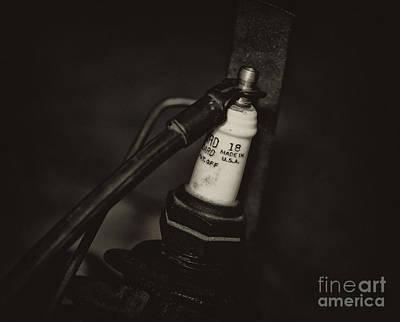 Photograph - Vintage Spark Plug   4 by Wilma  Birdwell