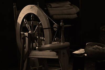 Vintage Spinning Wheel Art Print