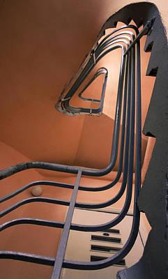 Vintage Spiral Stairs Art Print