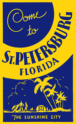 Painting - Vintage St. Petersburg Florida Poster by Historic Image
