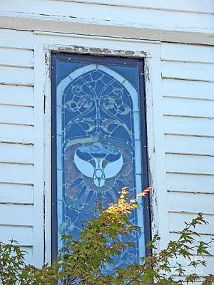 Photograph - Vintage Stained Glass 2 - St. Paul's Port Townsend by Connie Fox