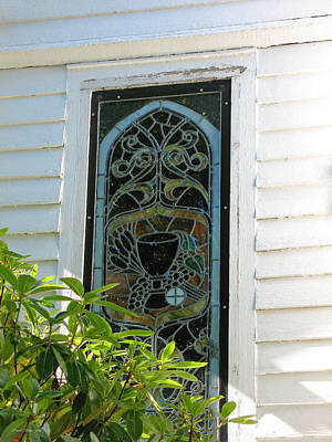 Photograph - Vintage Stained Glass - St. Paul's Port Townsend by Connie Fox