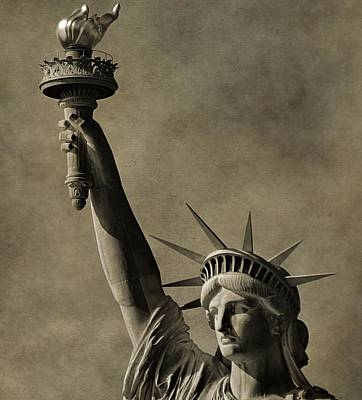 Lady Bug - Vintage Statue Of Liberty by Dan Sproul