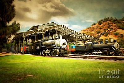 Photograph - Vintage Steam Locomotive 5d29279brun by Wingsdomain Art and Photography
