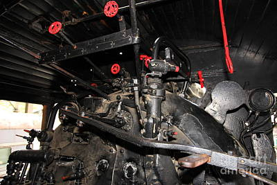 Vintage Steam Locomotive Cab Compartment 5d29256 Art Print by Wingsdomain Art and Photography