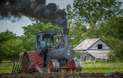 Keck Photograph - Vintage Steam Tractor by F Leblanc