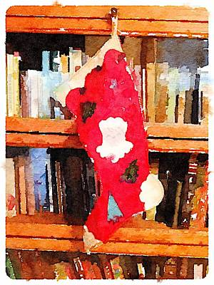 Digital Art - Vintage Stocking by Shannon Grissom