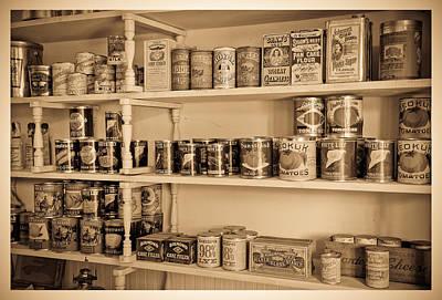 Photograph - Vintage Store Shelf by Steve McKinzie