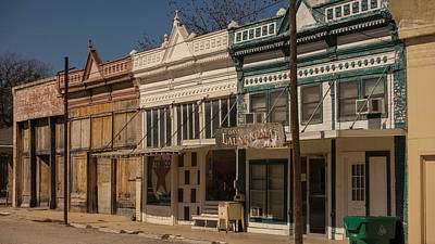 Vanishing Storefronts Photograph - vintage storefronts Hico Texas by Trace Ready