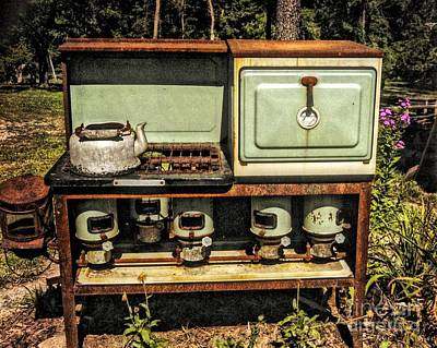 Photograph - Vintage Stove  100 Years Ago by Peggy Franz