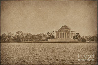 Us Capital Photograph - Vintage Style Jefferson Memorial by Emily Kay