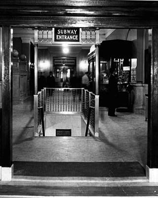 Vintage Subway Entrance Art Print