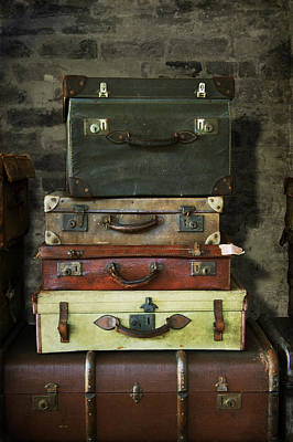 Photograph - Vintage Suitcases by Ethiriel  Photography