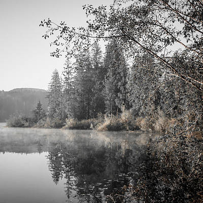 Photograph - Vintage Sunrise Fairy Lake by Roxy Hurtubise