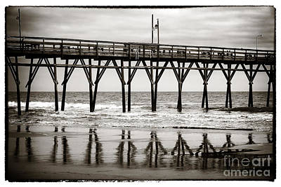 Photograph - Vintage Sunset Beach Pier by John Rizzuto