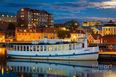 Reflective Photograph - Vintage Swedish Ferry by Inge Johnsson