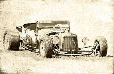 Vintage T Bucket Ford Art Print by Steve McKinzie