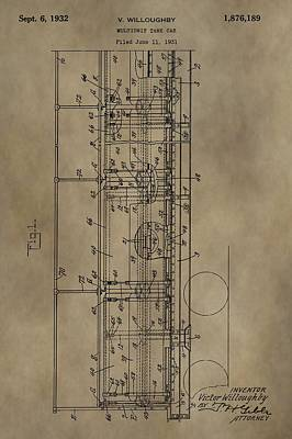 Caboose Mixed Media - Vintage Tank Car Patent by Dan Sproul