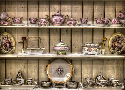 Photograph - Vintage Tea Cup Set by Radoslav Nedelchev