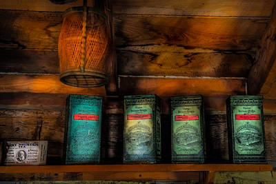 Log Cabin Interiors Photograph - Vintage Tea Leaves by Paul Freidlund