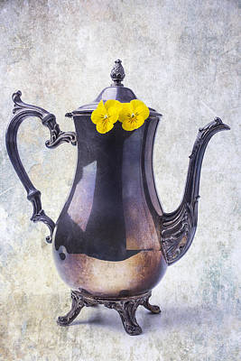 Photograph - Vintage Teapot With Pansies  by Garry Gay