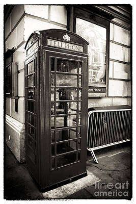 Vintage Telephone Booth Art Print by John Rizzuto