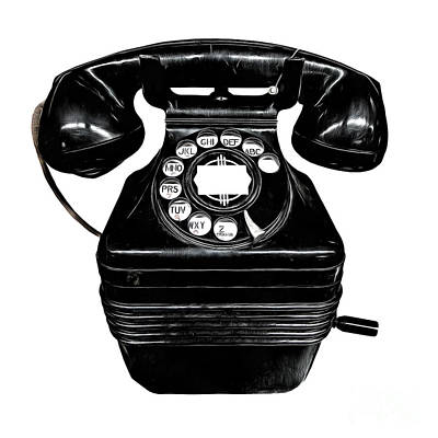 Photograph - Vintage Telephone by Edward Fielding