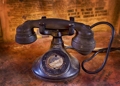 Photograph - Vintage Telephone  by Saija  Lehtonen