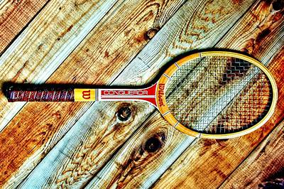Sports Royalty-Free and Rights-Managed Images - Vintage Tennis by Benjamin Yeager