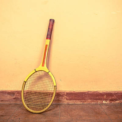 Vintage Tennis Racket Art Print by Dutourdumonde Photography