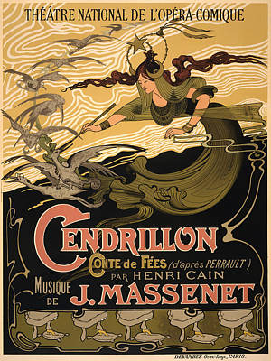 Vintage Theatre Poster - 1899 Art Print by Mountain Dreams