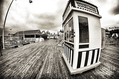 Seaside Heights Photograph - Vintage Tickets by John Rizzuto