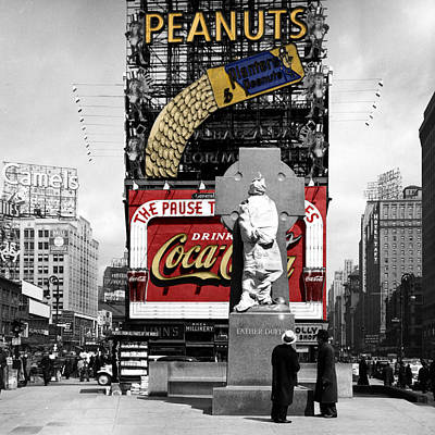 Photograph - Vintage Times Square 1 by Andrew Fare