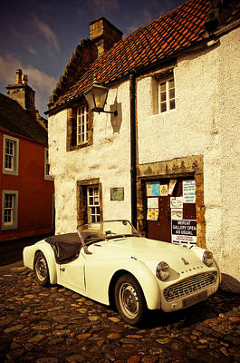 Photograph - Vintage Touch. Culross Sketches. Scotland by Jenny Rainbow