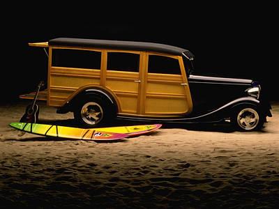 Vintage Toy Car 3 Woody Art Print