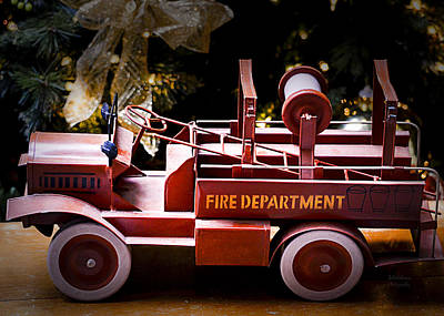 Photograph - Vintage Toy Fire Truck by Julie Palencia