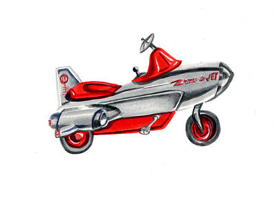 Shift Painting - Vintage Toy Pedal Airplane by Elaine Hodges