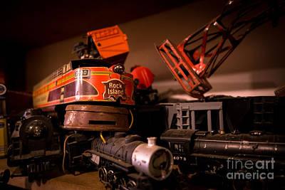 Vintage Toy Trains Art Print